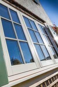 PVCu flush sash window